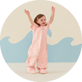 Our award-winning Sleep Suit Bag converts from a sleeping bag to a suit with legs, using zippers. The ideal sleeping solution for a toddler, and Australia's most loved Sleep Suit for the toddler years.