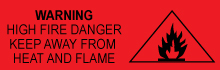 fire hazard label